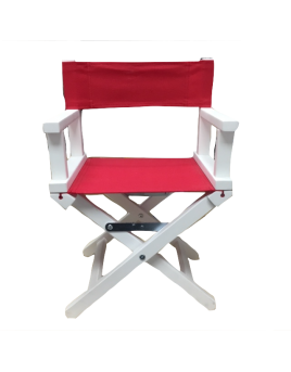 chaise blanche rouge